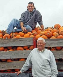 Mario Marini and his son Michael farm 200 acres in Ipswich.