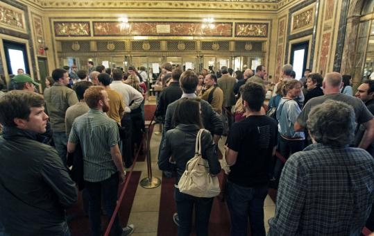 Wilco fans had to pick up their tickets for the show in the lobby of the Citi Wang Theatre, and they could not be readmitted if they left the theater.