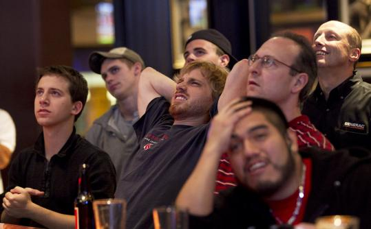 Last night's Red Sox game was a gut-wrenching experience for local fans at the Cask 'N Flagon sports bar, near Fenway Park.