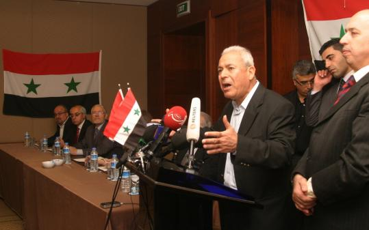 Prominent opposition figure Bourhan Ghalioun has taken a leading role for the newly formed Syrian National Council.