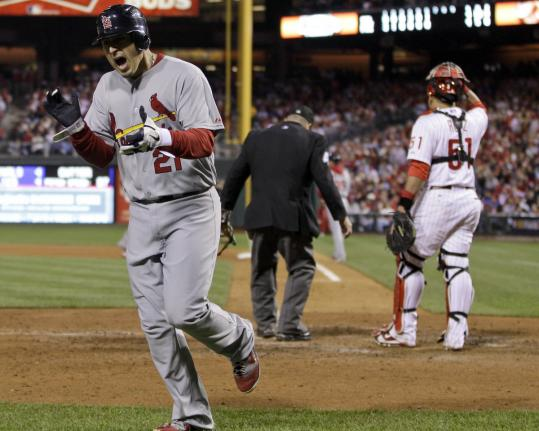 Allen Craig had a hand in the St. Louis win, scoring the go-ahead run on a single by Albert Pujols after leading off the seventh inning with a triple.