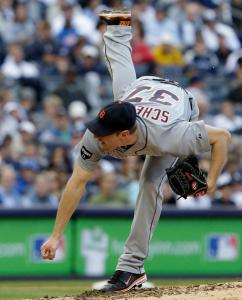 Max Scherzer gave the Tigers quite a kick, taking a no-hit bid into the sixth inning in a Game 2 win against the Yankees.