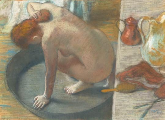 The Museum of Fine Arts exhibit explores Edgar Degas's singular gift for depicting the female form stripped of pretension.