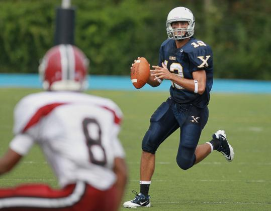 Xaverian's Chris Calvanese is one of two quarterbacks the Hawks will rely on when they take on Duxbury Saturday.