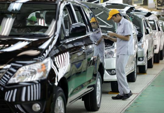 Toyota was the world's biggest automaker but slid to number three after the March 2011 natural disasters in Japan.