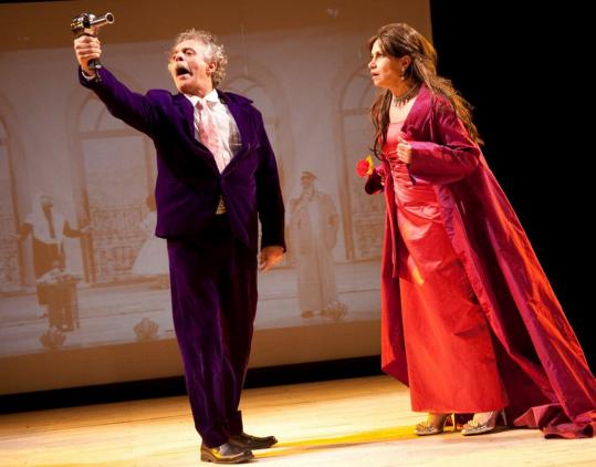 "Fayez Kazak and Carole Abboud in ""The Speaker's Progress,'' by Sulayman Al-Bassam."