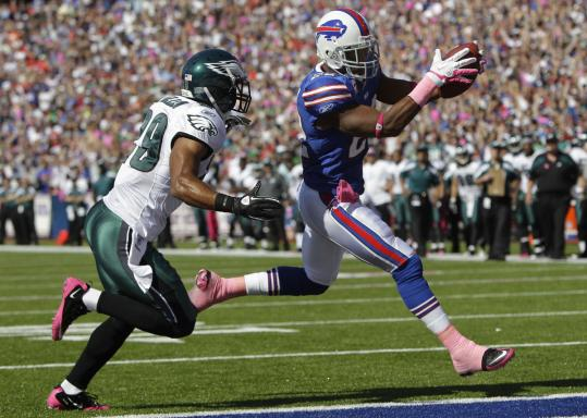 Buffalo's Fred Jackson scored on this early 5-yard run and totaled 196 yards from scrimmage.