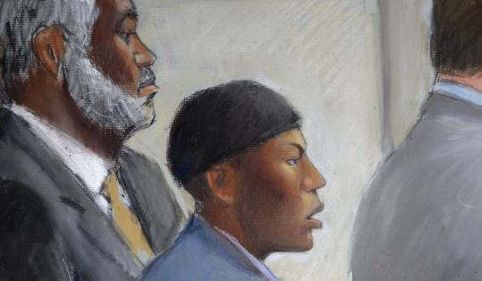 Umar Farouk Abdulmutallab, shown in a courtroom drawing, said the explosives he had were a &#8220;blessed weapon.&#8217;&#8217;