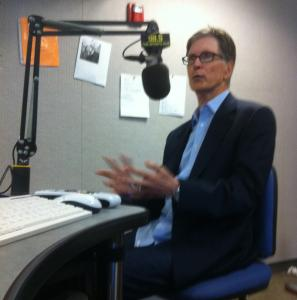 A combative John Henry discussed the state of the Red Sox at the Brighton studios of 98.5 The Sports Hub yesterday.