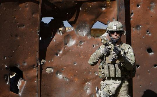 Omar Sobhani/ReutersA US soldier kept watch yesterday at the site of an attack by insurgents in Panjshir Province in eastern Afghanistan.
