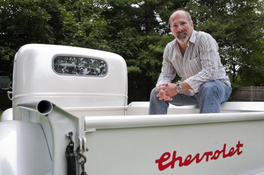 Framingham resident Wayne Lebeaux has to leave his vintage pickup behind for his gigs as road manager for Bruce Springsteen and Ringo Starr.