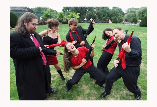 Firebird Ensemble (seen in a promotional photo) played Saturday in Cambridge, with each composition a story.