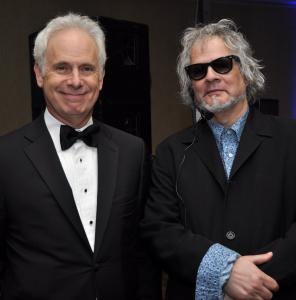 Christopher Guest (left) and Al Kooper at the Berklee Encore Gala.