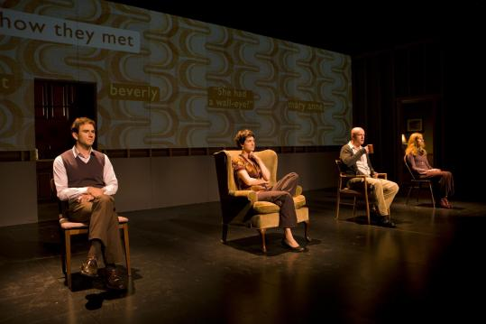 "From left: Robbie Collier Sublett, Jennifer R. Morris, Matthew Maher, and Caitlin Miller in the Civilians' production of ""You Better Sit Down: Tales From My Parents' Divorce.''"