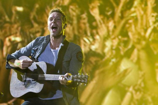 Singer Chris Martin's voice stands out on the more intimate songs of Coldplay's 'Mylo Xyloto.'