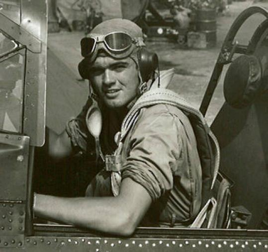 L. Rodger Currie flew in the Pacific-based Marine Scout Bombing Squadron 243 in World War II.