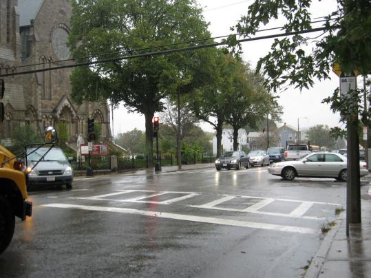 The Boston Transportation Department opted to give drivers on Market Street more time to cross the intersection of Sparhawk and Arlington streets before signals turn red.