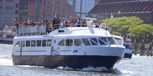 The boat Anna is used in the Winthrop commuter ferry service, which marked its first full season recently. Winthrop is soon to begin construction of a ferry terminal facility, which is part of the town's second phase of its plan to upgrade its public landing.