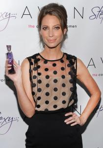 Avon has in recent years focused on overseas markets, from which it gets 80 percent of its revenue. Above, company spokeswoman Christy Turlington Burns at a recent promotion in New York.