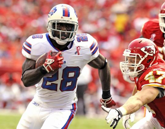 The Bills are experimenting with C.J. Spiller at wide receiver, but for fantasy purposes, he is classified as a running back.