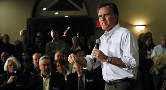 Mitt Romney visited the Executive Court in Manchester last night for his 15th New Hampshire town hall of the campaign.