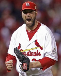 Working on three days' rest, Chris Carpenter pitched into the seventh.