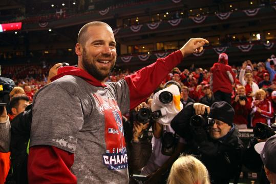 Chris Carpenter helped forge the Cardinals' championship with his words and example.