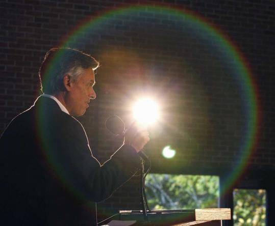 Republican presidential candidate Jon Huntsman laid out his energy plan at the University of New Hampshire yesterday.