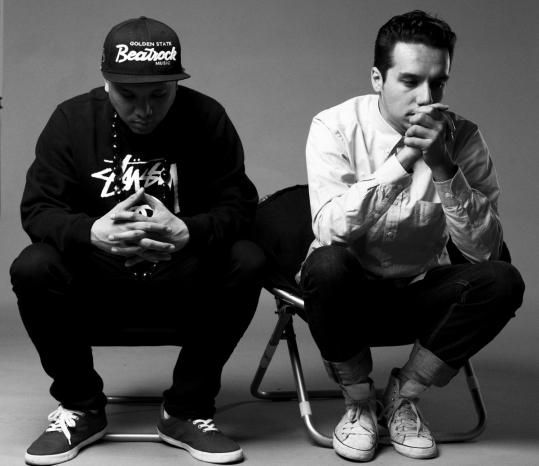 MC Geologic (left) and DJ/producer Sabzi make up the Seattle rap duo Blue Scholars.
