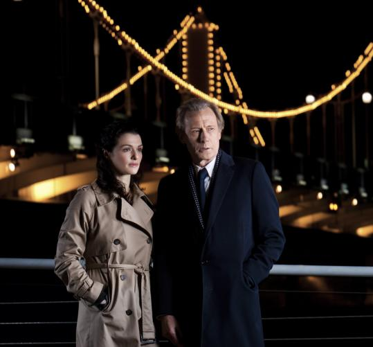 "Rachel Weisz and Bill Nighy in ""Masterpiece Contemporary: Page Eight.''"