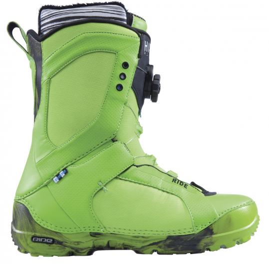"Ride Snowboard's Hi-Phy Boa Coiler boot. Recon Instruments' Micro Optics Display Live system, a ""dashboard'' for goggles."