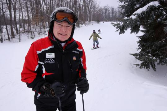 Wachusett Mountain ski school director Bruce McDonald says private instruction teaches students at their own pace. (Bill Greene/Globe Staff)