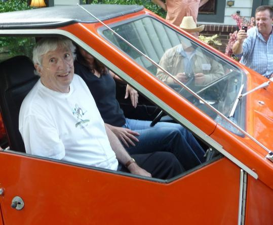 Bob Beaumont in one of his electric CitiCars.