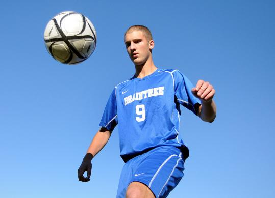Mike Kelley returned for his senior season on the Braintree High soccer team after having open heart surgery last year.
