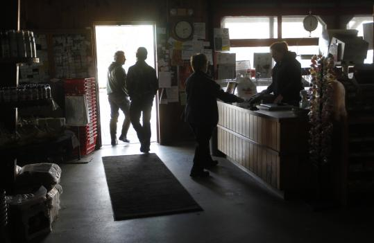 The Bolton Orchards country store was still operating in the dark on Tuesday.