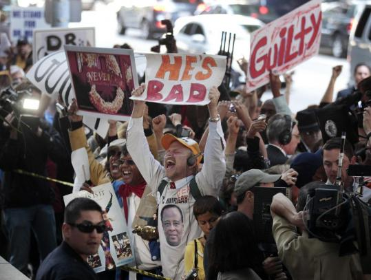 Fans of Michael Jackson reacted in Los Angeles after Dr. Conrad Murray was found guilty in the pop star's 2009 drug overdose.