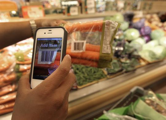 SCAN IT! Mobile enables customers to scan and bag their groceries as they shop. The app is designed to work on an iPhone or Android.
