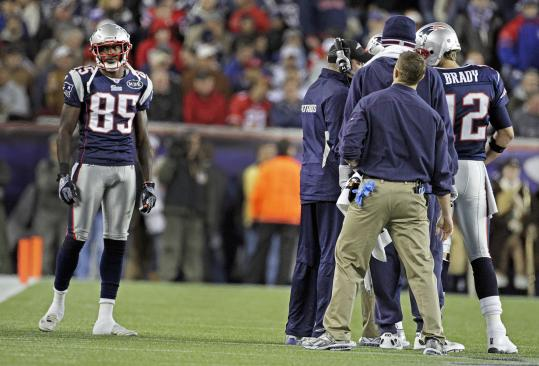 There was more frustration Sunday, but receiver Chad Ochocinco (above) and Tom Brady are closer to being in synch.