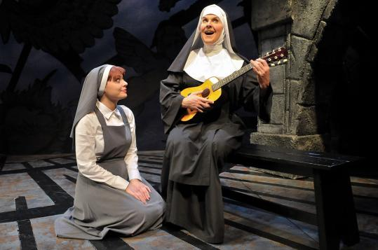 "Sasha Castroverde (left) and Jeffery Roberson in SpeakEasy Stage Company's production of ""The Divine Sister.''"