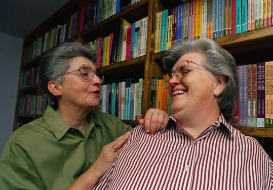 "Ms. Grier (left) and Donna McBride published ""Lesbian Nuns: Breaking Silence'' in 1985. Fifty-one women contributed."