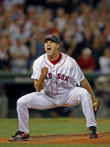 Jonathan Papelbon was at the center of many Boston victories, but he walked off a loser in his final appearance as a Red Sox.