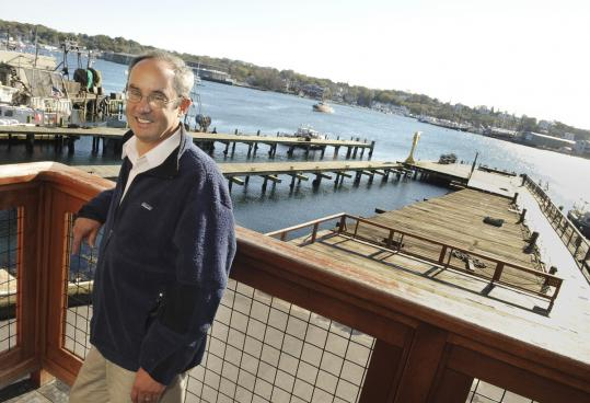 Tom Balf looks over his domain as the new executive director of Maritime Gloucester.