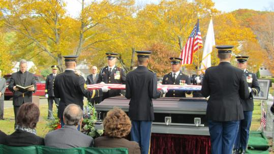 James Milano, mayor of Melrose from 1972 to 1991, was buried last week with military honors at Wyoming Cemetery.