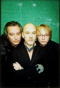 From left: Peter Buck, Michael Stipe, and Mike Mills of R.E.M.