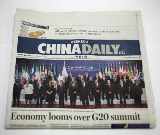 China Daily is a broadsheet newspaper, with the look and feel of a major metropolitan daily. It is produced in eight other US cities.