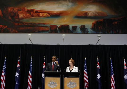 President Obama and Prime Minister Julia Gillard discussed the partnership at a press conference yesterday in Canberra.