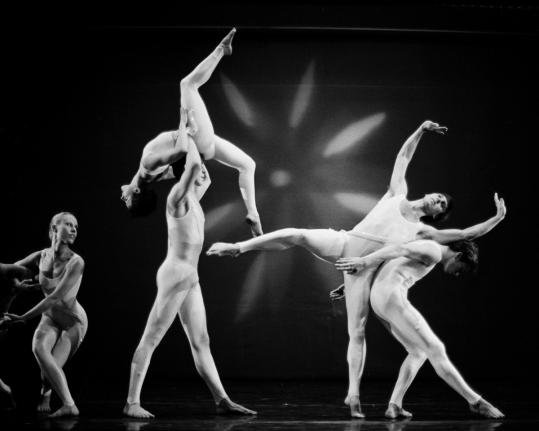 In his spare time, Mr. Schweitzer photographed the arts. Above, Susan Marshall's dance troupe.