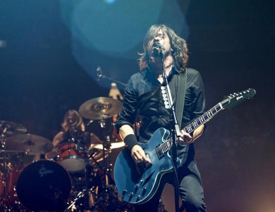 Dave Grohl and the Foo Fighters (shown in New Jersey in September) played long and hard Wednesday night at the Garden.