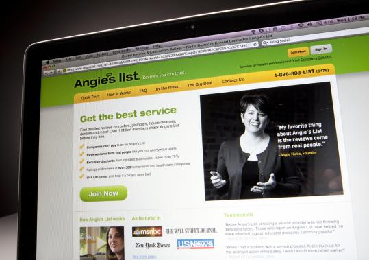 Angie&#8217;s List, a consumer review site, was a hot item for investors in its first day of trading on Wall Street. The website has local reviews of plumbers, doctors, dentists, and others.