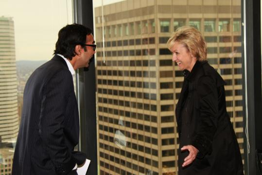 Baba Shetty of Hill Holliday with The Daily Beast's Tina Brown, who spoke yesterday.